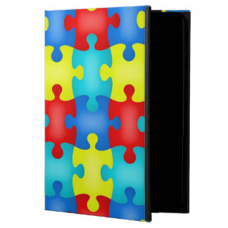 Autism Awareness Puzzle Piece iPad Air Stand Cover For iPad Air