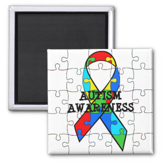 Autism Awareness Puzzle Pieces Magnet