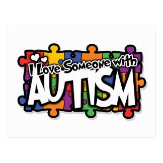 Autism Awareness Puzzle Postcard