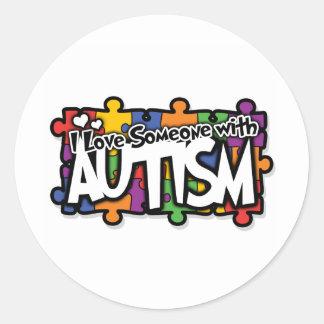 Autism Awareness Puzzle Round Sticker