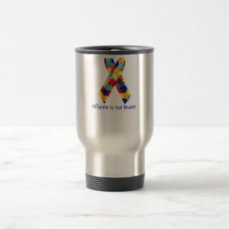 Autism Awareness Puzzle Support Ribbon Stainless Steel Travel Mug