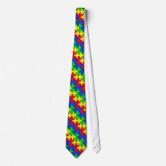 Autism Awareness Puzzle Tie