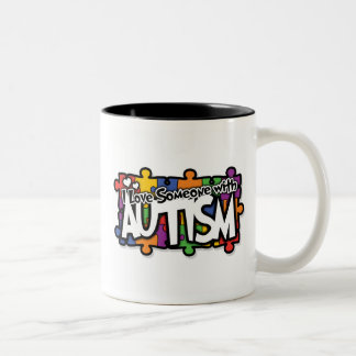 Autism Awareness Puzzle Two-Tone Coffee Mug