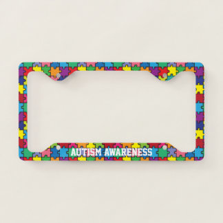 Autism Awareness Rainbow Puzzle Pattern