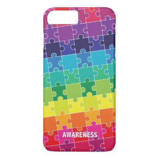 Autism Awareness Rainbow Puzzle Pieces iPhone 8 Plus/7 Plus Case