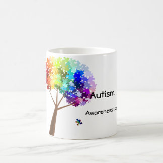 Autism Awareness Rainbow Puzzle Tree Coffee Mug