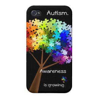 Autism Awareness Rainbow Puzzle Tree for iPhone 4 iPhone 4/4S Case