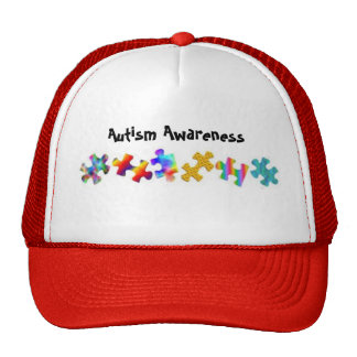 Autism Awareness (Red/White) Trucker Hat