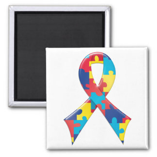 Autism Awareness Ribbon A4 Magnet