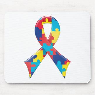 Autism Awareness Ribbon A4 Mouse Mat