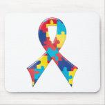 Autism Awareness Ribbon A4 Mousepads