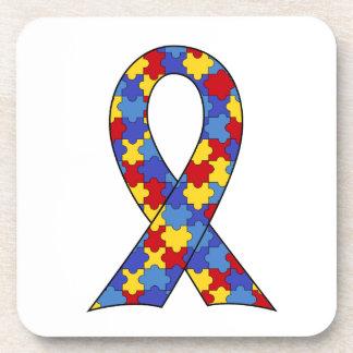 Autism Awareness Ribbon Coasters