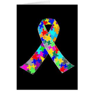 Autism Awareness Ribbon Greeting Card