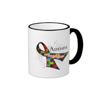 Autism Awareness Ribbon Ringer Mug