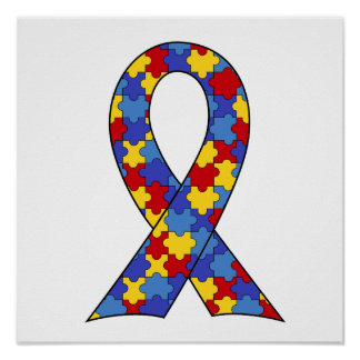 Autism Awareness Ribbon Print