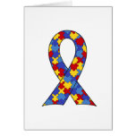 Autism Awareness  Ribbon Stationery Note Card