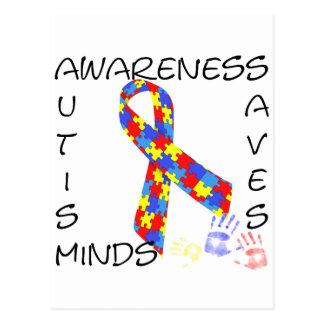 Autism Awareness Saves Minds Post Card