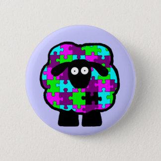 Autism Awareness Sheep Button