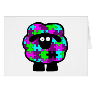 Autism Awareness Sheep Card