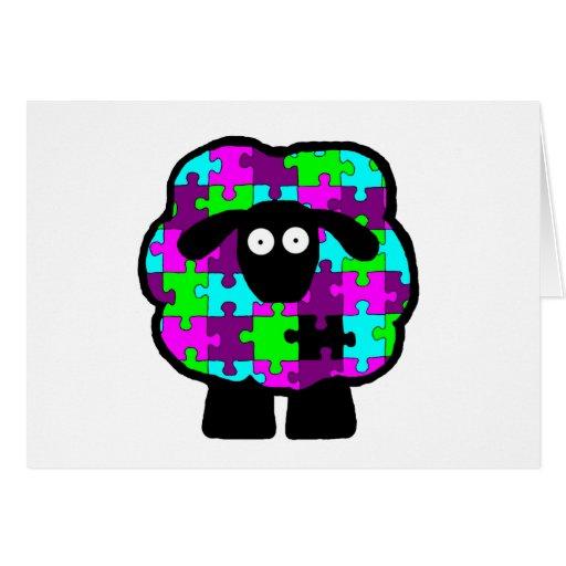 Autism Awareness Sheep Card