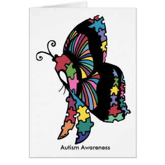 Autism Awareness side butterfly Greeting Card