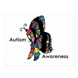 Autism Awareness side butterfly Postcard