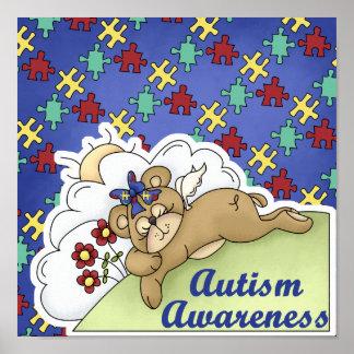 Autism Awareness Sleeping Bear Poster