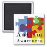 Autism Awareness Square Magnet