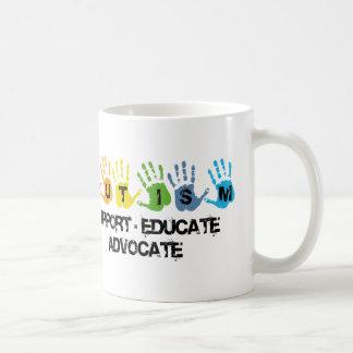 Autism Awareness : Support Educate Advocate Basic White Mug