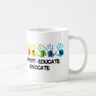 Autism Awareness : Support Educate Advocate Coffee Mugs