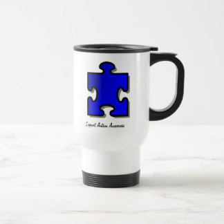 Autism Awareness Support travel mug in white