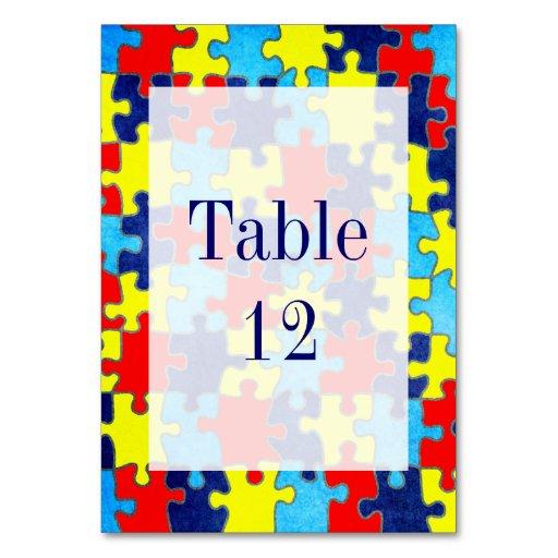 Autism Awareness Table Card