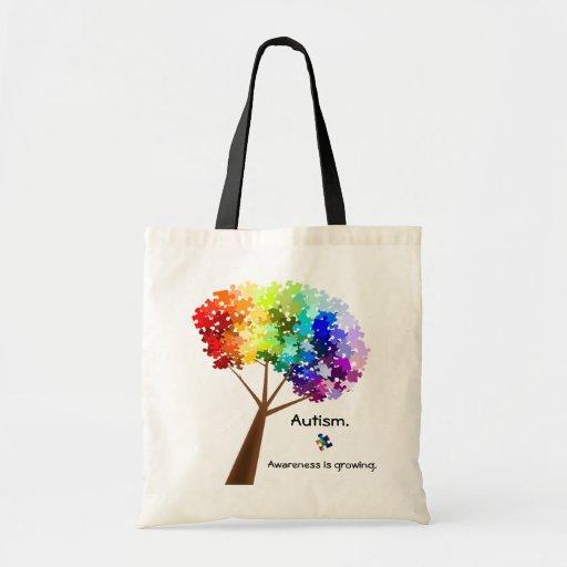 Autism Awareness Tree Bag