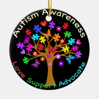 Autism Awareness Tree Christmas Ornament
