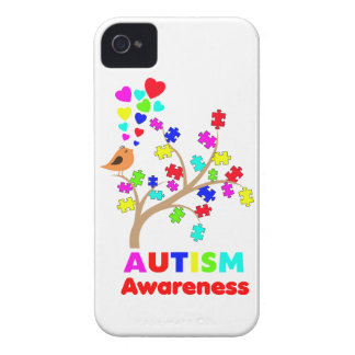 Autism awareness tree iPhone 4 case