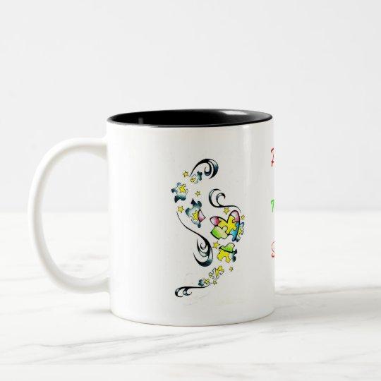 Autism Awareness Two-Tone Coffee Mug