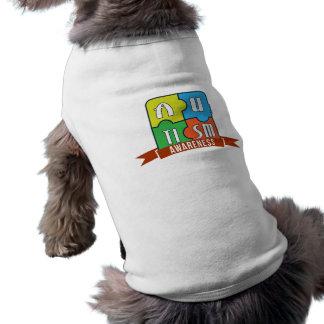 Autism Awareness Typography Graphics Dog Tank Top Doggie Tee