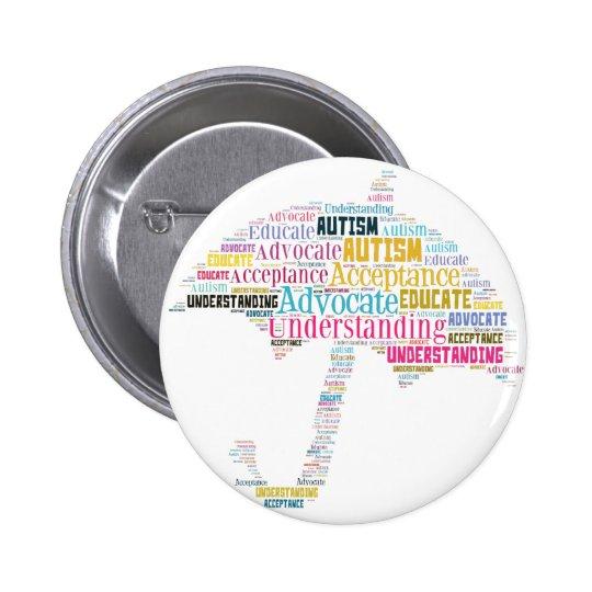 Autism Awareness Umbrella Products 6 Cm Round Badge