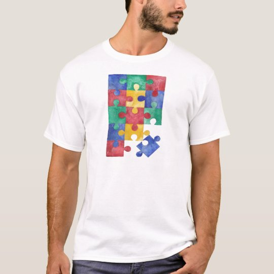 Autism Awareness watercolor puzzle T-Shirt