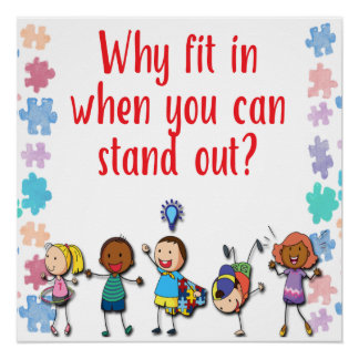 Autism Awareness Why Fit in When You Can Stand Out