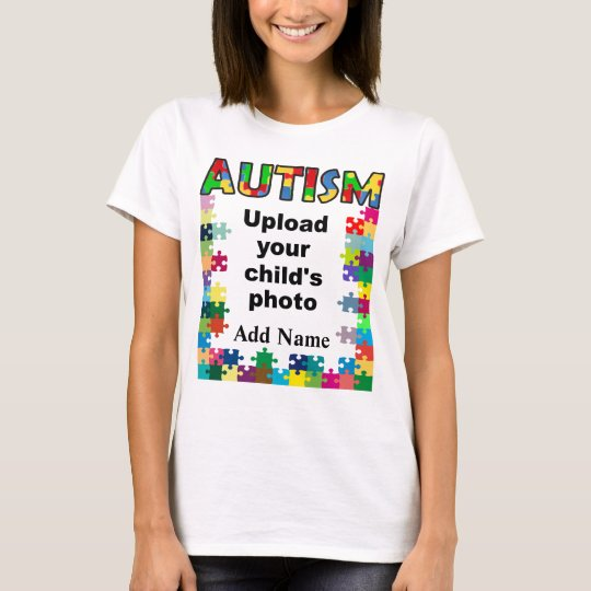 Autism Awareness Womens Puzzle Frame Customise T-Shirt