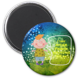AUTISM AWARNESS LAPEL BOY MAGNET