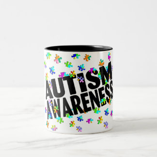 Autism Awarness Two-Tone Coffee Mug