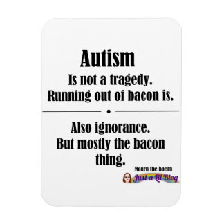 autism bacon tragedy car magnet