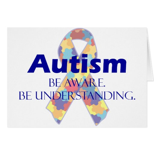 Autism be aware be understanding cards