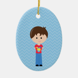 Autism Boy personalizable upon request Christmas Ornament