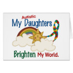 Autism BRIGHTEN MY WORLD 1 Daughters Greeting Cards
