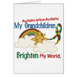 Autism BRIGHTEN MY WORLD 1 Grandchildren 2 Greeting Cards