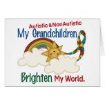 Autism BRIGHTEN MY WORLD 1 Grandchildren 2 Greeting Card