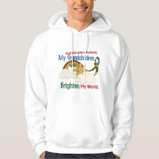 Autism BRIGHTEN MY WORLD 1 Grandchildren 2 Hoodie